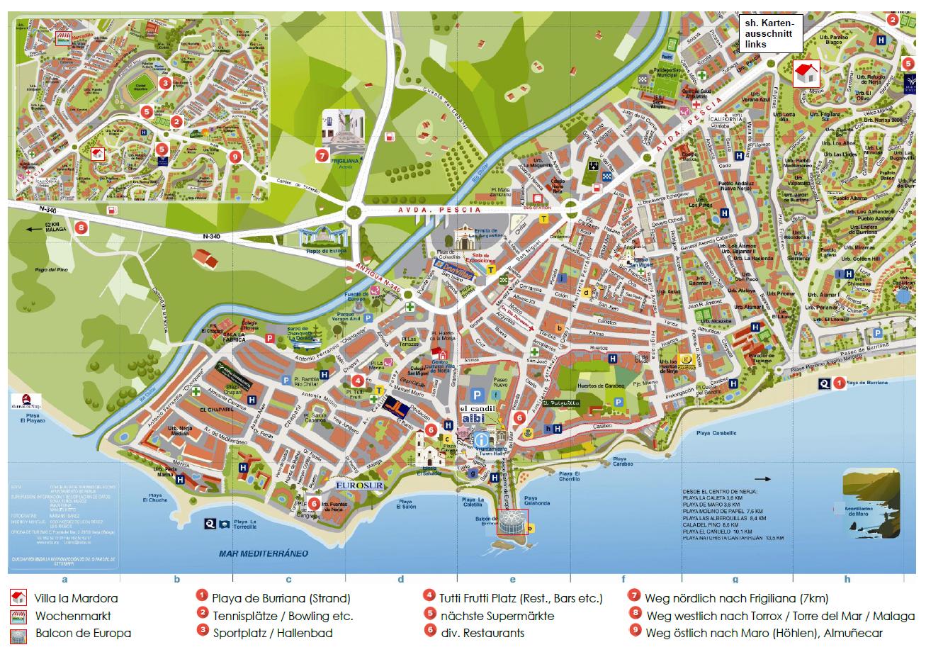 Stadtplan / Karten | Villa la Mardora